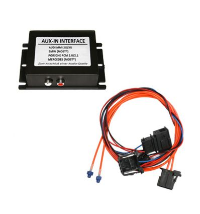 AUX-in interface Audi with MOST MMI3G basic/high