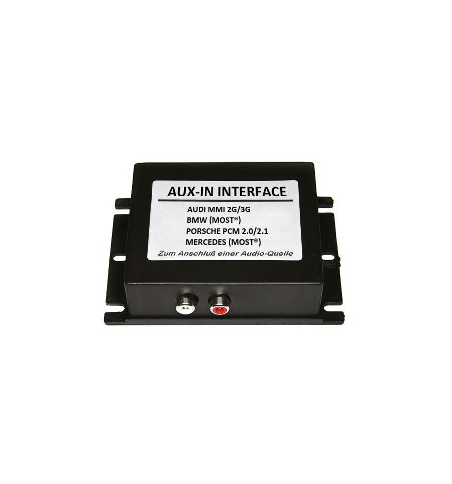 Aux In Interface Audi Bmw Mercedes And Porsche With Most: Interfaccia Audio AUX-IN Per Sistemi MOST Audi MMI3G Basic