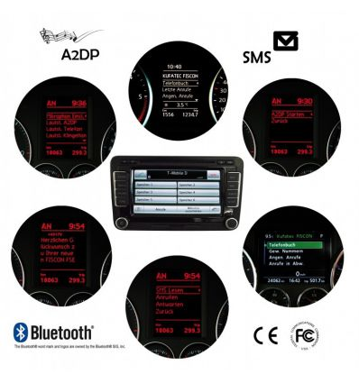 "FISCON Bluetooth Handsfree - ""Basic-Plus"" Skoda - Without ceiling lights microphone"