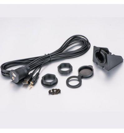 Presa USB + AUX da pannello o incasso, jack 3.5 mm