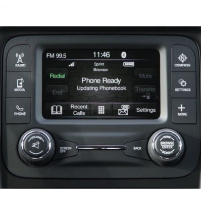 "Jeep Uconnect 5"" front and rear camera inputs video interface"