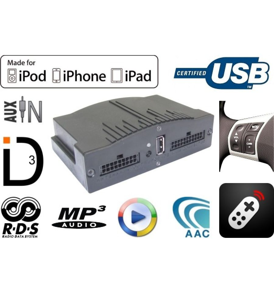 Paser Maestro 2 0 Mercedes USB / iPod / iPhone / AUX Interface
