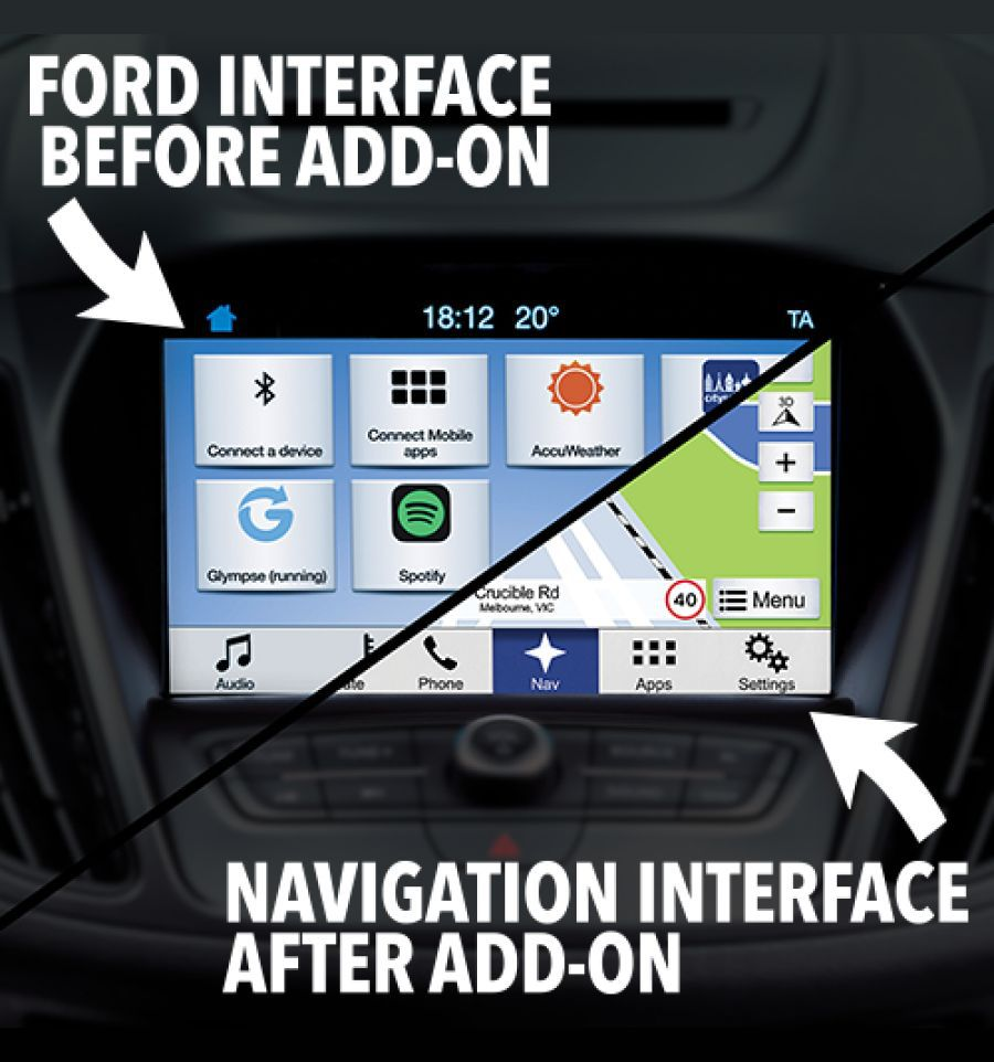 ford sync 3 gps navigation system upgrade with hdmi and. Black Bedroom Furniture Sets. Home Design Ideas