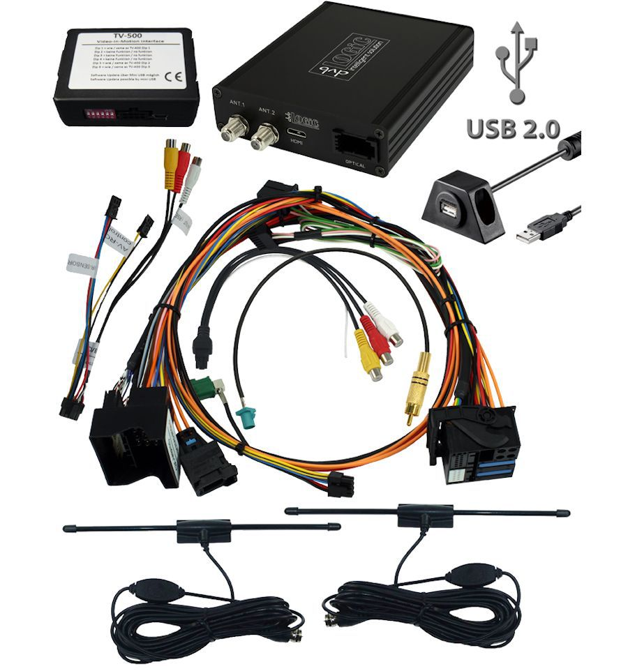 BMW Professional CCC/CIC: dvbLOGiC2 with TV-tuner port DVB-T tuner receiver  with USB multimedia player