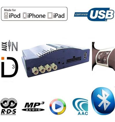 Paser Maestro 3.0 Blue Nissan USB / iPod / iPhone / AUX Interface