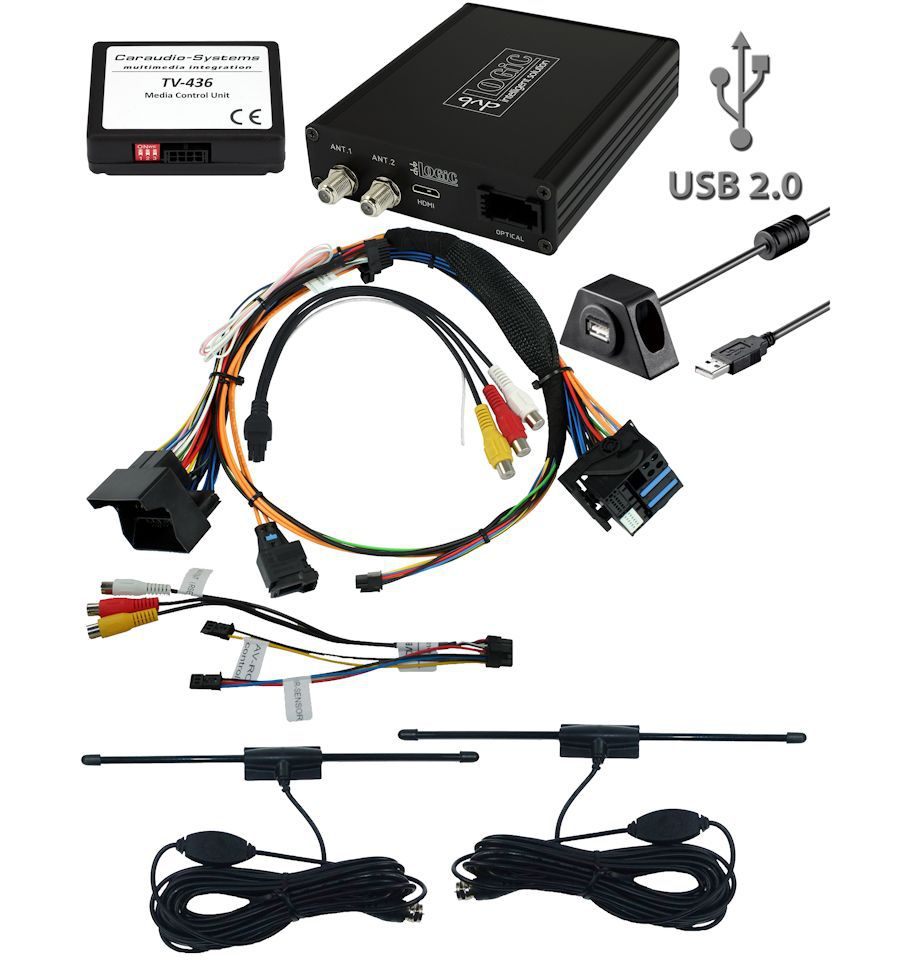 bmw tuner dvb t2 h265 usb audio video input rear view. Black Bedroom Furniture Sets. Home Design Ideas