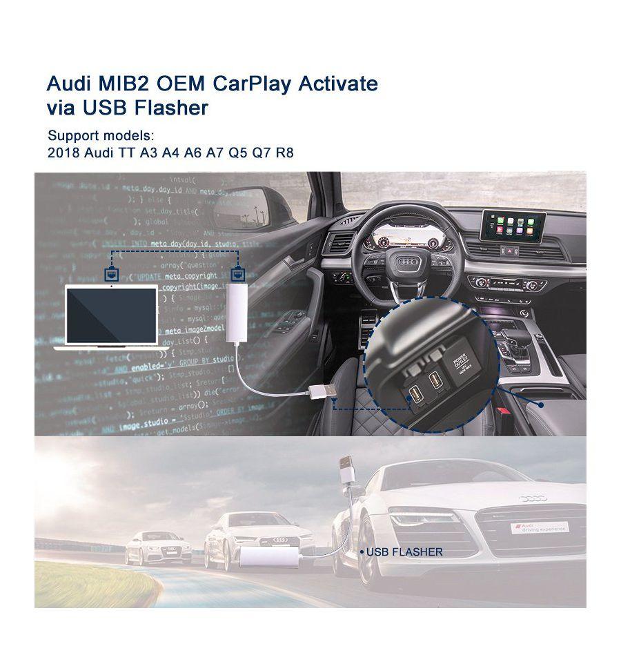 AUDI MIB2 MIB II OEM CarPlay activation via USB