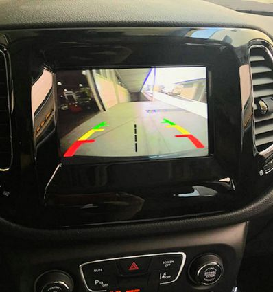 Jeep New Uconnect rear view camera activation and video in motion interface