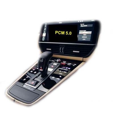 Porsche PCM 5.0 rear and front camera input video interface