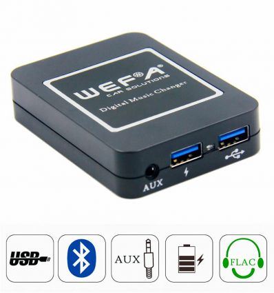 Skoda 8 pin (ISO) USB, AUX, Wireless Bluetooth Streaming Handsfree Interface