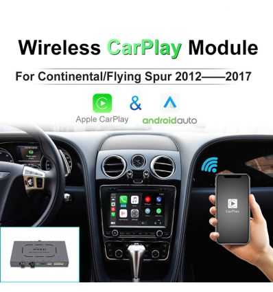 Bentley Continental and Flying Spur Wireless Apple CarPlay iOS Android Auto Solution interface