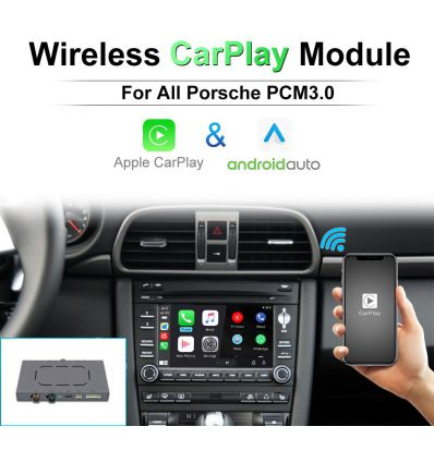 Porsche PCM3.0 Wireless Apple CarPlay AirPlay Android Auto Solution