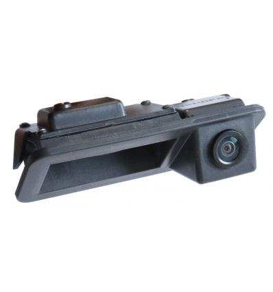 FORD vehicle-specific exchange rear door opener handle with integrated camera and switchable guide-lines.