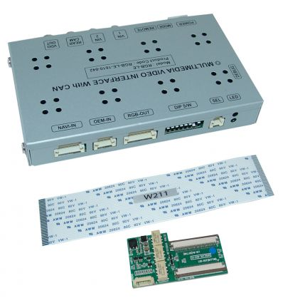 Video interface for Mercedes vehicles with Comand APS NTG1 and NTG2 navigation.